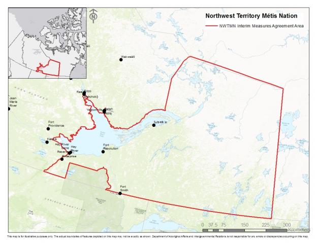 Northwest Territory Métis Nation Interim Measures Agreement Area