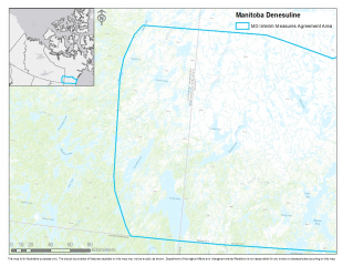 Manitoba Dënesuliné Interim Measures Agreement Area